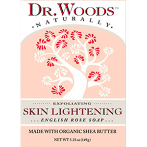 Skin Lightening English Rose Soap Bar, 5.25 oz, Dr. Woods