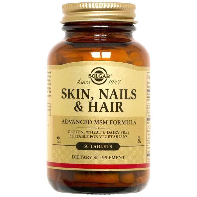Skin, Nails & Hair, Advanced MSM Formula, 60 Tablets, Solgar