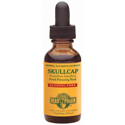 Skullcap Glycerite Liquid, 4 oz, Herb Pharm