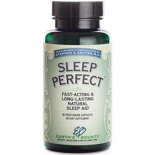 Sleep Perfect, Natural Sleep Aid, 60 Vegetarian Capsules, Earths Bounty
