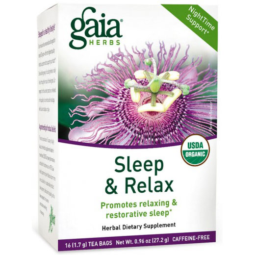 Sleep & Relax Tea, NightTime Support, 16 Tea Bags x 6 Boxes, Gaia Herbs