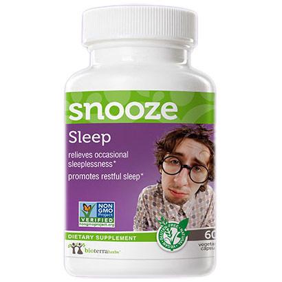 Sleep Snooze, Herbal Formula, 60 Vegetarian Capsules, BioTerra Herbs