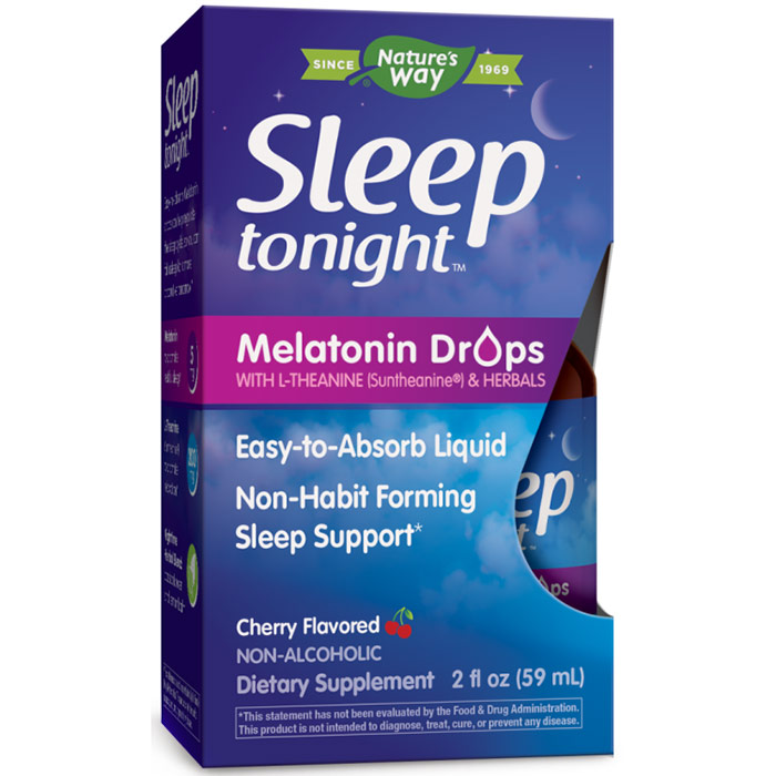 Sleep Tonight Melatonin Drops with L-Theanine & Herbals Liquid, 2 oz, Enzymatic Therapy