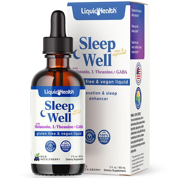 Sleep Well, Liquid Sleep Aid Supplement, 2 oz, Liquid Health