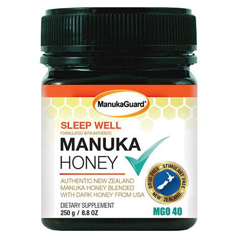 Sleep Well Manuka Honey, MGO 40, 8.8 oz, ManukaGuard