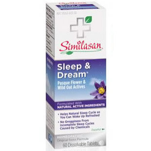 Sleep & Dream, Homeopathic Sleep Aid, 60 Dissolvable Tablets, Similasan