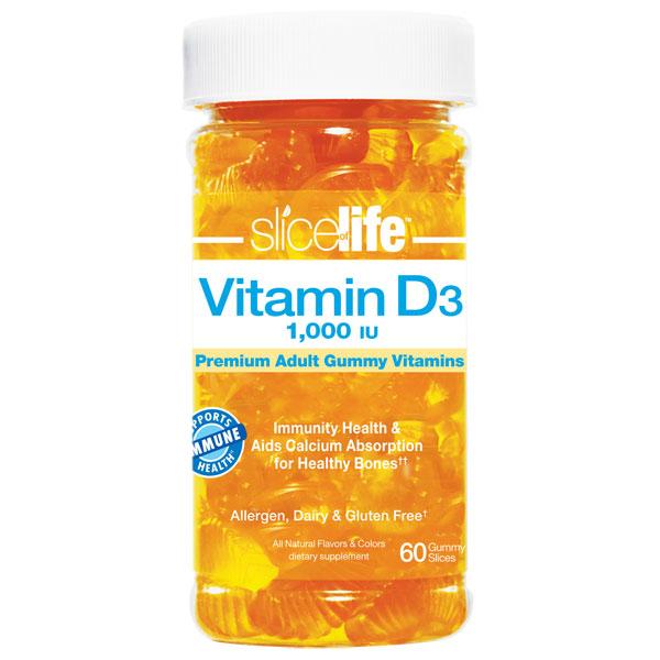 Slice Of Life Vitamin D Chewable, 60 Gummies, Hero Nutritionals Yummi Bears