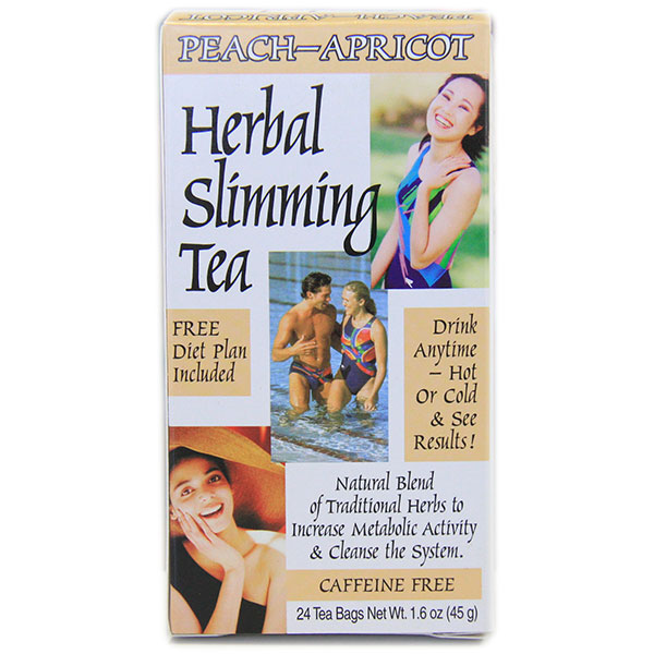 Slimming Tea Peach Apricot 24 Tea Bags, 21st Century Health Care Diet Tea