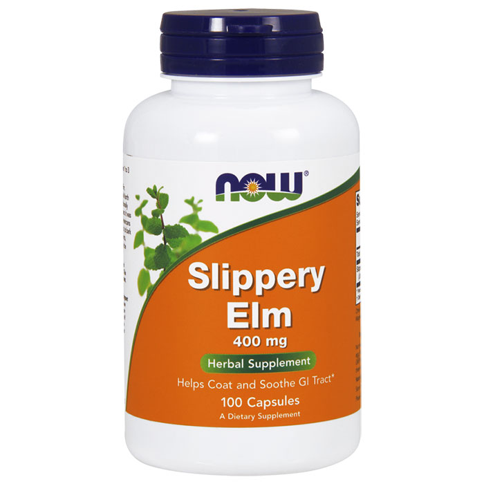 Slippery Elm 400mg 100 Caps, NOW Foods