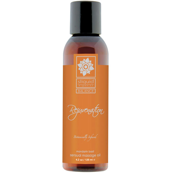 Sliquid Balance Rejuvenation Sensual Massage Oil, Mandarin Basil, 4.2 oz