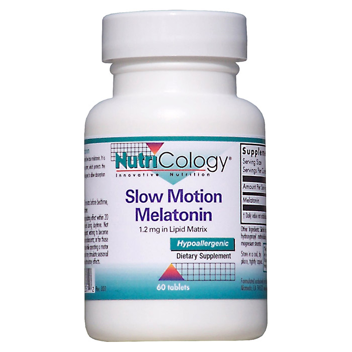 Slow Motion Melatonin 1.2 mg in Lipid Matrix, 60 Tablets, NutriCology