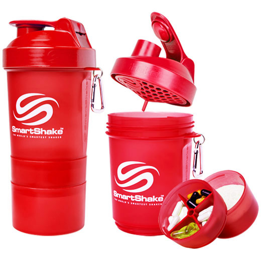 SmartShake Original Shaker Cup 20 oz - Neon Red, 1 Bottle