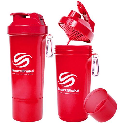 SmartShake Slim Shaker Cup 17 oz - Neon Red, 1 Bottle