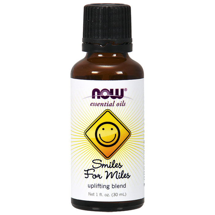 Smiles for Miles Essential Oil Uplifting Blend, 1 oz, NOW Foods