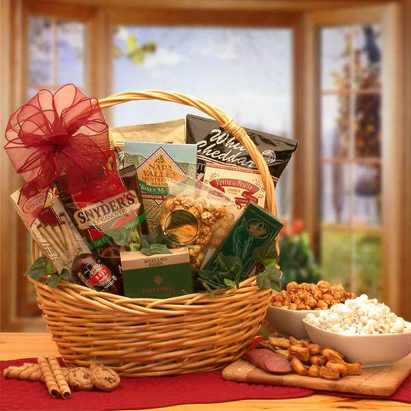 Snack Attack Gift Basket, Small Size, Elegant Gift Baskets Online