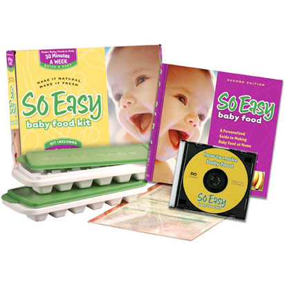So Easy Baby Food Kit (Cookbook, Video, Trays & Card), Fresh Baby LLC