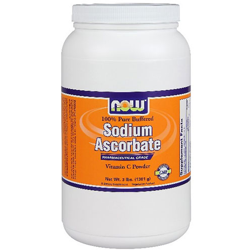 Sodium Ascorbate Powder Vegetarian, 3 lb, NOW Foods