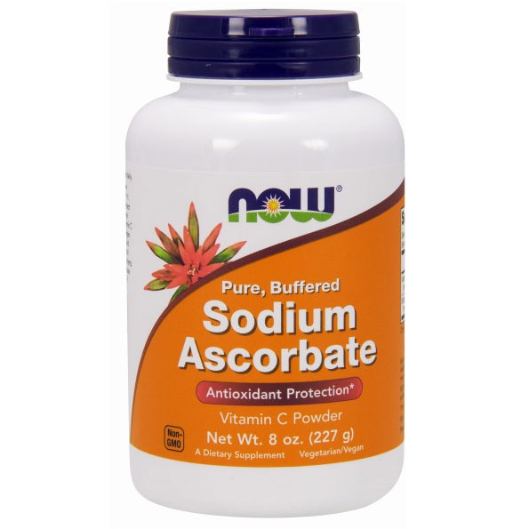 Sodium Ascorbate Powder Vegetarian, 8 oz, NOW Foods