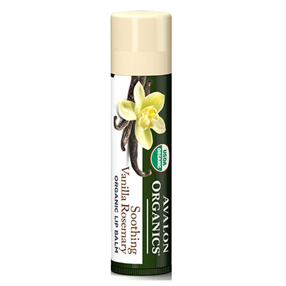 Soothing Vanilla Rosemary Organic Lip Balm, 0.15 oz, Avalon Organics