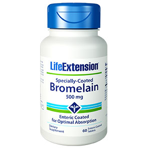 Specially-Coated Bromelain, 60 Enteric Coated Tablets, Life Extension