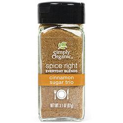 Spice Right Everyday Blends Cinnamon Sugar Trio, 3.1 oz, Simply Organic