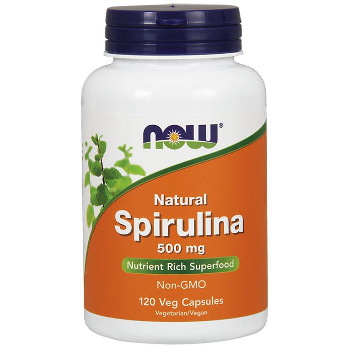 Spirulina 500 mg 100% Natural, 120 Vcaps, NOW Foods