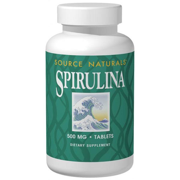 Spirulina 500mg 100 tabs from Source Naturals