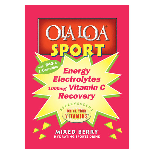Sport Drink Mixed Berry, Energy & Recovery, 30 Packs, Ola Loa