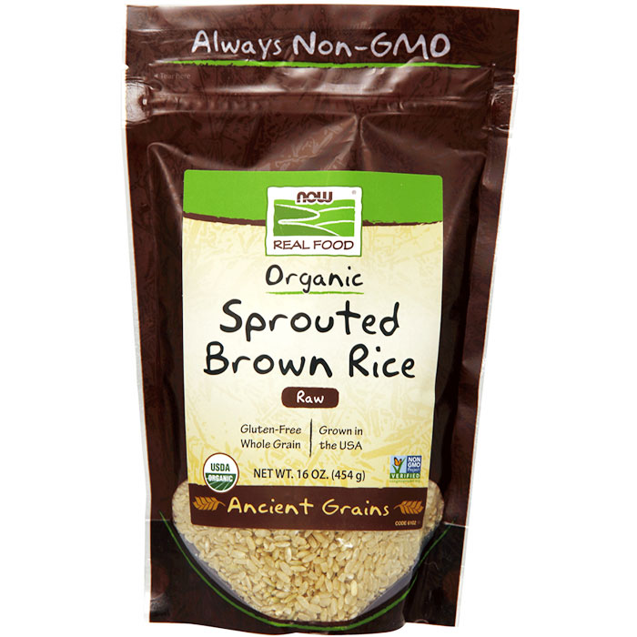 Sprouted Brown Rice, Organic, 16 oz, NOW Foods