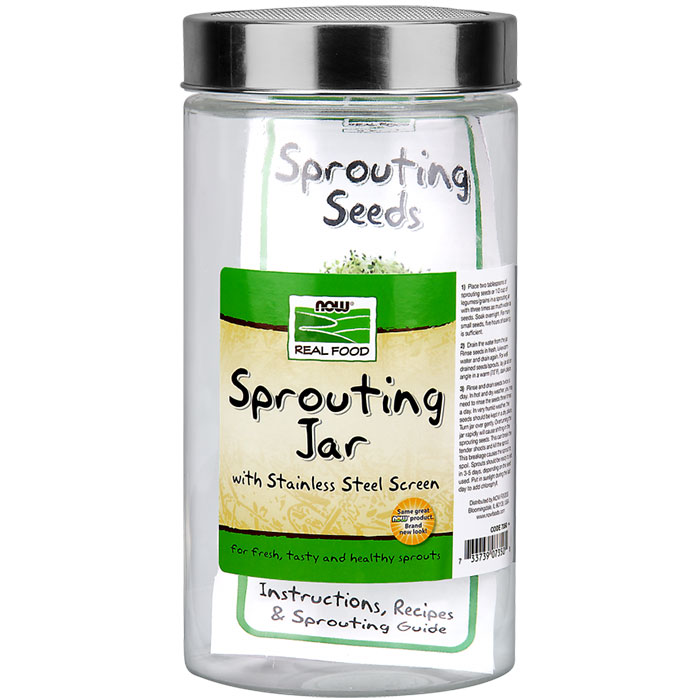 Sprouting Jar for Sprouting Needs, NOW Foods