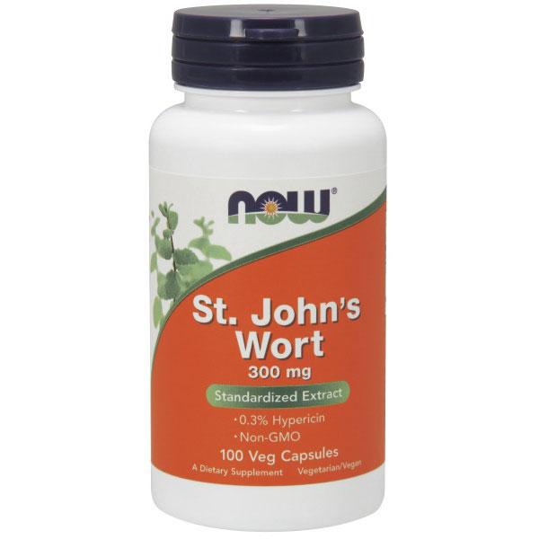 St. Johns Wort 300 mg, 100 Veg Capsules, NOW Foods