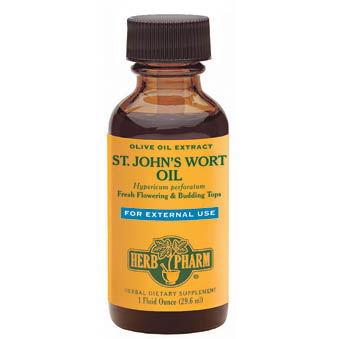 St. John's Wort Oil Liquid, 1 oz, Herb Pharm
