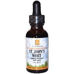 St. Johns Wort Organic, 1 oz, L.A. Naturals