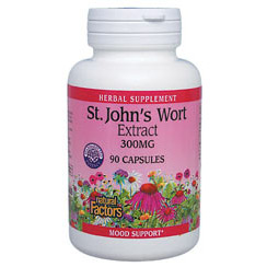 St. Johns Wort Extract 300mg 90 Capsules, Natural Factors