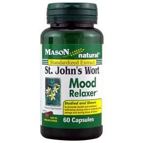 St. Johns Wort Mood Relaxer, 60 Capsules, Mason Natural
