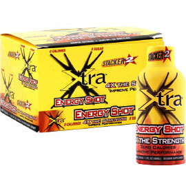 Stacker 2 Xtra Energy Shot, 12 Shots, NVE