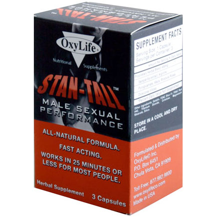 Stan-Tall Male Sexual Performance, 3 Capsules, Oxylife Products
