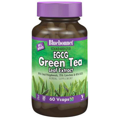 Standardized EGCG Green Tea Leaf Extract, 120 Vcaps, Bluebonnet Nutrition