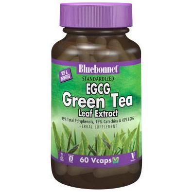 Standardized EGCG Green Tea Leaf Extract, 60 Vcaps, Bluebonnet Nutrition
