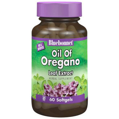 Standardized Oil Of Oregano Leaf Extract, 60 Softgels, Bluebonnet Nutrition