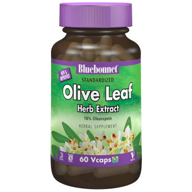 Standardized Olive Leaf Herb Extract, 120 Vcaps, Bluebonnet Nutrition
