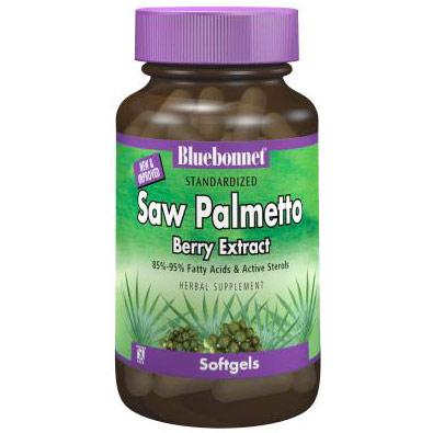 Standardized Saw Palmetto Berry Extract, 60 Softgels, Bluebonnet Nutrition