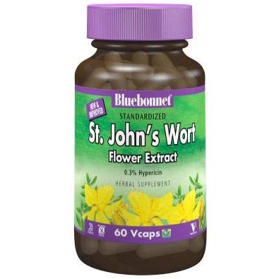Standardized St. Johns Wort Flower Extract, 60 Vcaps, Bluebonnet Nutrition