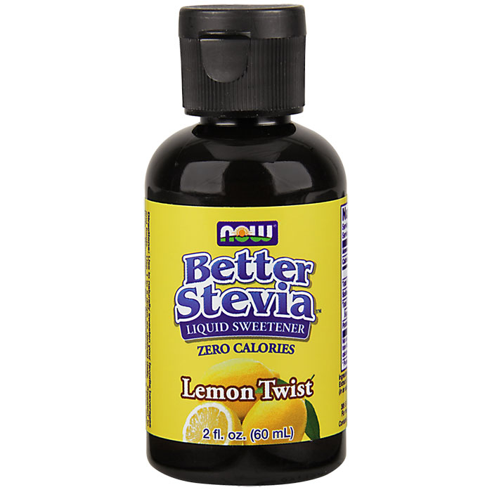 Better Stevia Liquid Sweetener - Lemon Twist Flavor, 2 oz, NOW Foods