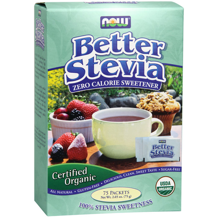 Organic Better Stevia, BetterStevia Value Size, 75 Packets, NOW Foods