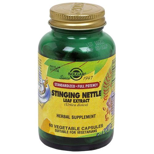 Stinging Nettle Leaf Extract - Standardized Full Potency, 60 Vegetable Capsules, Solgar