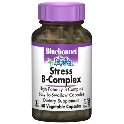 Stress B-Complex, 50 Vegetable Capsules, Bluebonnet Nutrition