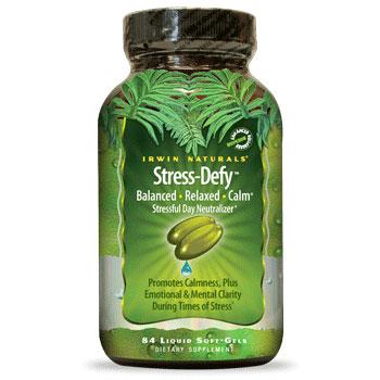 Stress-Defy Balanced & Relaxed, 84 Liquid Soft-Gels, Irwin Naturals