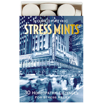 Homeopathic Stress Mints for Stress Relief, 30 Lozenges, Historical Remedies