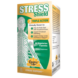 Stress Shield, Triple Action Stress Support, 60 Vegetarian Capsules, Country Life